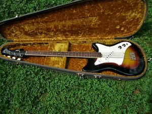 VINTAGE VOX PANTHER BASS GUITAR, 1960'S, MADE IN ITALY, CASE, CLEAN & ORIGINAL