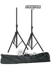 Pair of Speaker Stands for PA and DJ speakers.  One pair includes travel bag