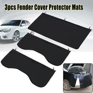 3Pcs Car Magnetic Fender Cover Mechanic Paint Protector Work Mat Pad Guard