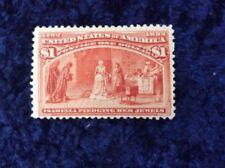 Stati UNITI D'AMERICA 1893 Columbian Exposition 1 DOLLARO Rosso montato Nuovo di zecca