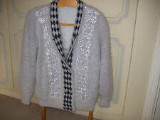 Beautiful Saesbyul grey angora long sleeve jacket