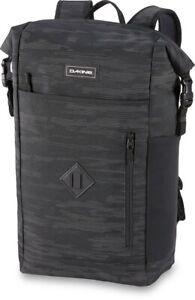 Dakine Mission Surf Roll Top Pack 28L Backpack Flash Reflective Black New 2021