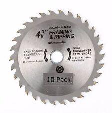 "( 10 Pack ) 4-3/8"" X 30T Carbide Saw Blade"