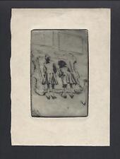 Alexander Brantingham Simpson Original Signed Antique Dry Point of Art Critics