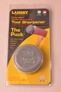 Lansky Puck Dual Grit Sharpening Stone Grinding Tool  Axe Blade Edge Sharpener