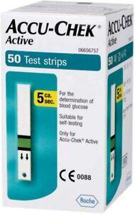 Roche Original Accu Chek Active (300) blood glucose test strips - expiry 08/2022