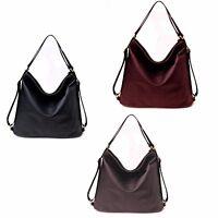 Vincenza Designer LargeWomens FauxLeather SlouchHobo StyleTote Backpack Rucksack