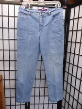 "Gloria Vanderbilt Straight Leg Blue Jeans Size 12 Inseam 27""................Z180"