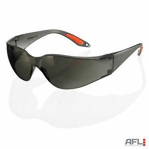 B-Brand Vegas Wraparound Grey Safety Glasses - Impact & Scratch Resistant