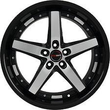 Set of 4 GWG Wheels 18 inch Black Machined DRIFT 18x8 Rims 5x120 ET40 CB74.1