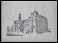 PARIS, MAIRIE XIVe - 1889 - PLANCHE ARCHITECTURE - ALEXANDRE AUBURTIN