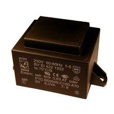 Hahn Print Trafo 230V Printtrafo 6VA 9V Netztrafo Transformator 853659