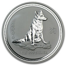 2006 1 oz Silver Australian Perth Mint Lunar Year of the Dog Coin - SKU #11151