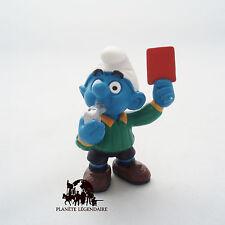 Figurine SCHTROUMPF Arbitre Carton Rouge Smurf SCHLEICH Germany PEYO