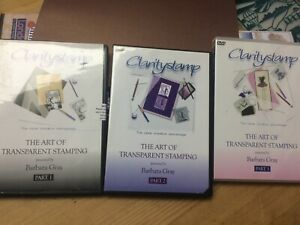 Clarity Stamp The Art Of Transparent Stamping DVD's part 1, 2 & 3