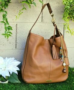Coach Avery soft Leather N/S Hobo Shoulder Bag 23309 Handbag Purse Saddle large