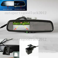 "Auto dimming rearview mirror+4.3"" reversing display+camera,fit Ford,Toyota,Honda"