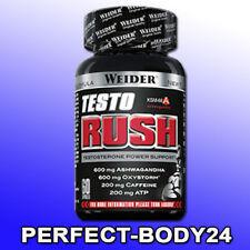 (316,75€/kg) Weider Testo Rush 60 Kapseln Dose Testosterone Booster Caffeine