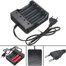 4 x Protected 18650 3.7V 3800mAh Li-ion Rechargeable Battery + 4.2V EU Charger