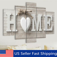 5 Panels Love HOME Wall Art Print Pictures Canvas Painting Unframed  US g a US