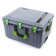 Silver & Lime Green Pelican 1637 Air case With Foam.  With wheels.