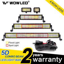 WOW - LED Light Bar 4 Rows Flood Spot Combo Beam Offroad Lamp  12V 24V 120W 180W