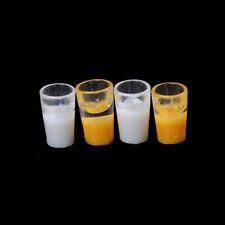 2X Miniature Milk Glass Kitchen Orange Drink Food Cup Decor Dollhouse 1/1_cd