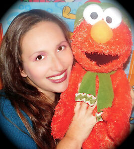 "Sesame Street Christmas Elmo Plush w/ Hat + Scarf Gund 23"" Stuffed Muppet Toy"