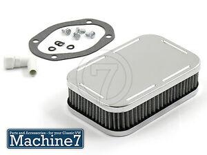 Air Filter for Weber 32/36 Progressive Carburettor Rectangular 50mm High Chrome