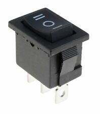 (On)-Off-(On) Momentary Rectangle Rocker Switch 3 Position SPDT 6A