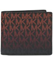 Michael Kors Men's Jet Set Billfold Wallet Coral Black