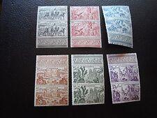 NOUVELLE CALEDONIE  - timbre y&t aerien n° 55 a 60 x2 n* (point de rouille(A05)