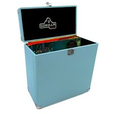"Gorilla LP-45 Retro Style 12"" Vinyl Record Storage Carry Case (Sonic Blue)"