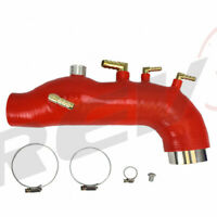 REV9 FOR WRX 08-14 GE GH GR GV EJ25 SILICONE TURBO INLET INTAKE HOSE RED