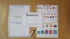 Pre school,Nursery Formation Pack - letters/numbers/shapes/pen control/name card