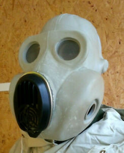 Gas MASK PBF & filter DIRTY SOVIET Rusian GRAY exotic GIFT GORILLA, BULDOG FACE