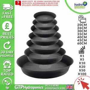 Round Plastic Plant Pot Saucer Heavy Duty - 20/26/30/35/40/45/60cm - Qty: x1-100