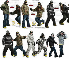 South Play Mens Waterproof Ski-Snowboard Total Militarylook Jacket Collection