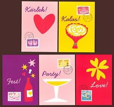 Below face J45 Sweden 5 Maximum cards 2010 Love Wedding Greeting