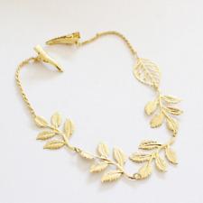 Fashion Women Crystal Rhinestone Chain Headband Hair Band Leaf Hair Clip Jewelry