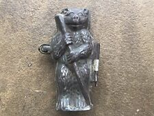 """Antique Chocolate Mold Bear Standing Mould 4.5"""" 11.5cms Tall Built in Clip Rare"""