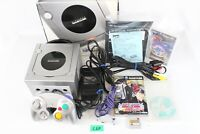 Nintendo Game cube GC silver Console DOL-101 japan box Tested working C6D
