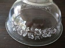 VINTAGE PYREX  Clear Nesting MIXING BOWL Colonial Mist White Flowers #325
