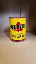 Vintage Pennzoil Bell Quart Oil Can-1950s-Oil City, Pa.