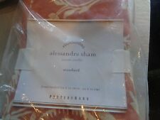 1 Pottery Barn Alessandra standard sham terracotta New
