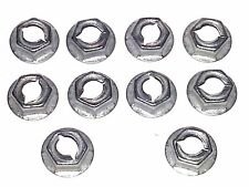 "GM GMC Body Fender Door Trim Clip Molding 1/4"" Thread Cutting Stud Nuts 10pcs O"