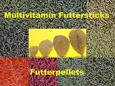20 Sorten Futtersticks Futterpellets Garnelenfutter Fischfutter 25/50/100/200 gr