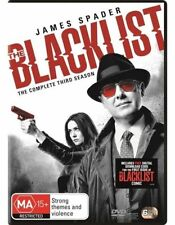 THE BLACKLIST (COMPLETE SEASON 3 - DVD SET SEALED + FREE POST)
