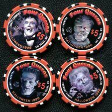 $5 Las Vegas Four Queens Halloween Casino Chip Set of 4