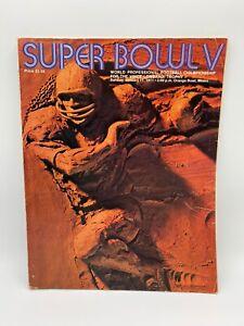 Super Bowl V (5) Program - 1971 NFL Baltimore Colts v. Dallas Cowboys + Patch